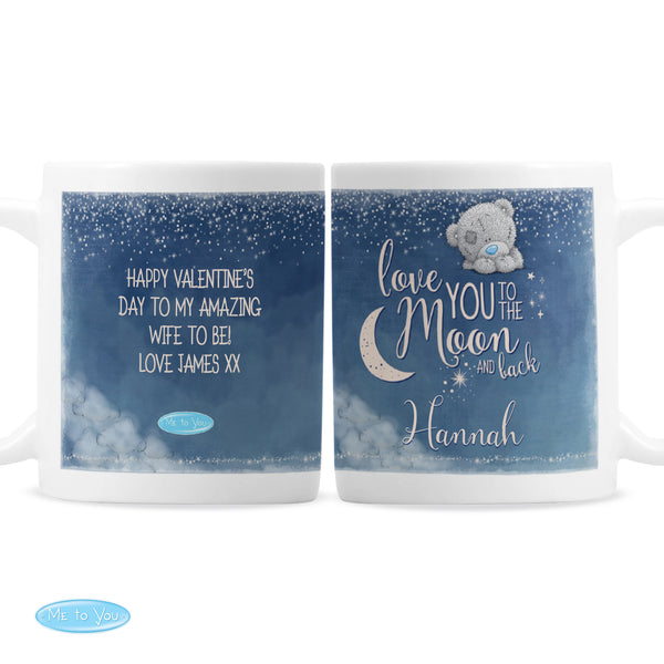 Personalised Me to You 'Love You to the Moon and Back' Mug white background