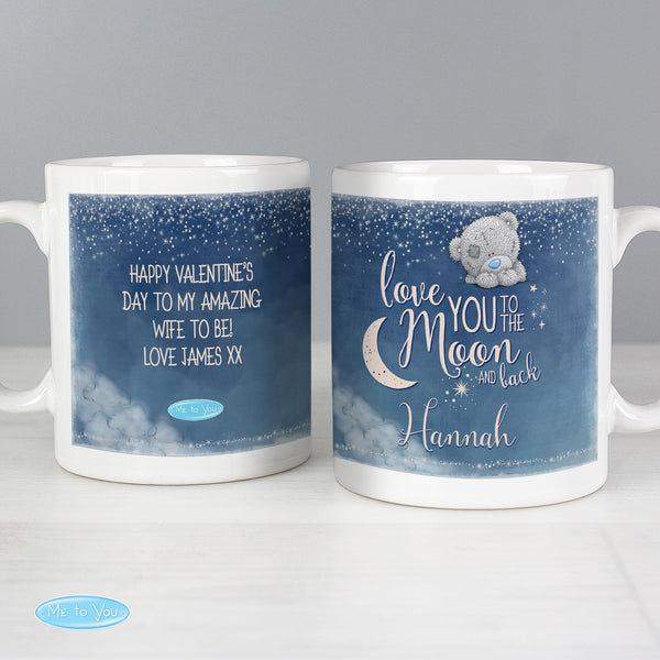 Personalised Me to You 'Love You to the Moon and Back' Mug lifestyle image