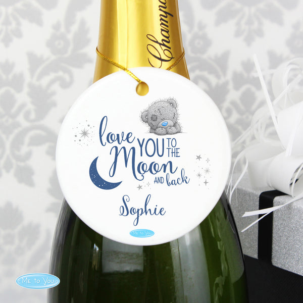 Personalised Me to You 'Love You to the Moon and Back' Round Decoration