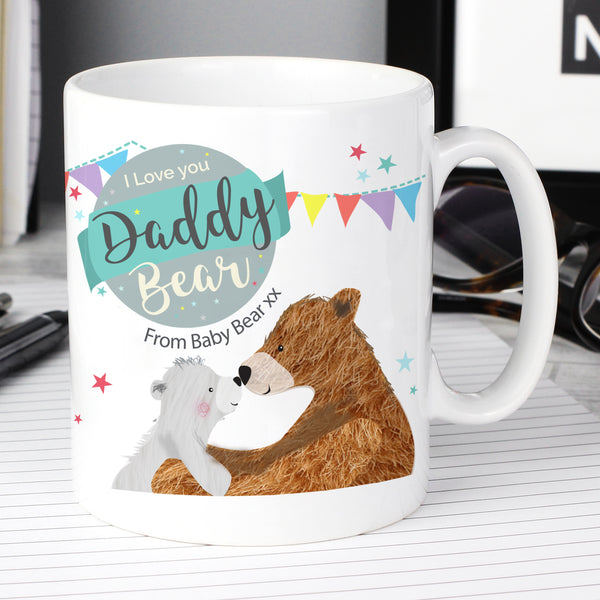 Personalised Daddy Bear Mug with personalised name
