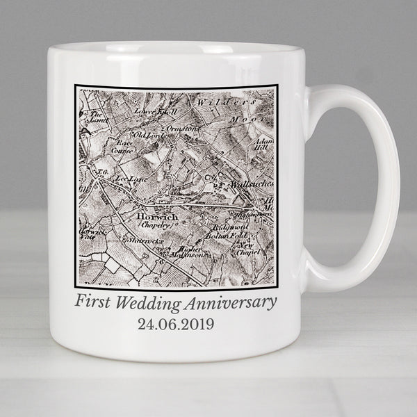 Personalised 1805 - 1874 Old Series Map Compass Mug from Sassy Bloom Gifts - alternative view