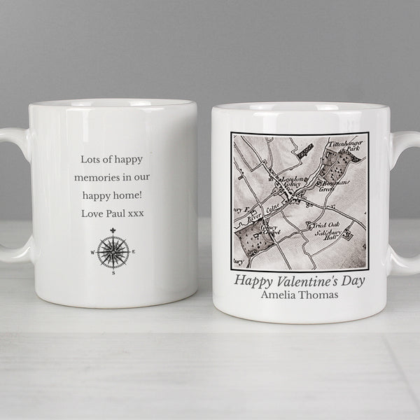 Personalised 1805 - 1874 Old Series Map Compass Mug lifestyle image
