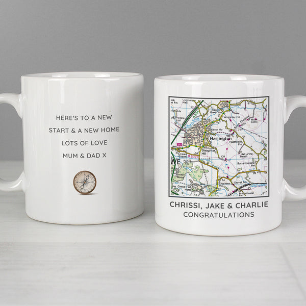 Personalised Present Day Map Compass Mug from Sassy Bloom Gifts - alternative view