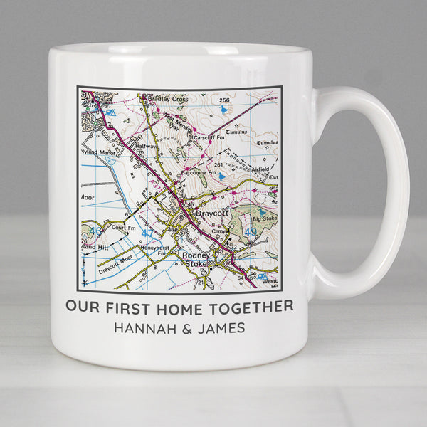 Personalised Present Day Map Compass Mug lifestyle image