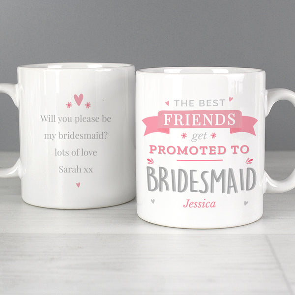 Personalised Pink Promoted To Mug from Sassy Bloom Gifts - alternative view