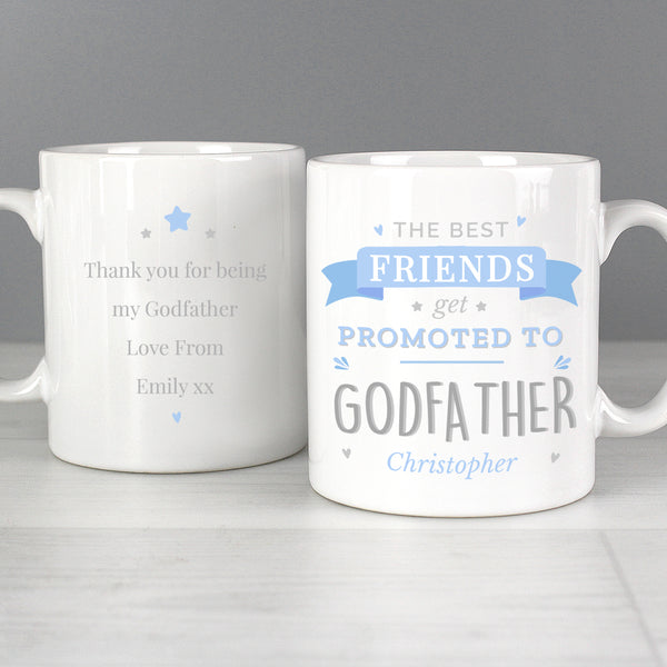 Personalised Blue Promoted to Mug from Sassy Bloom Gifts - alternative view