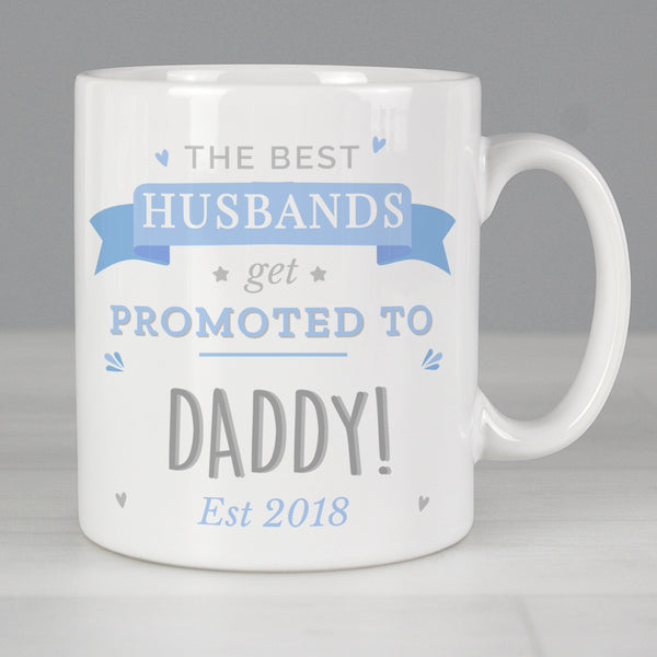 Personalised Blue Promoted to Mug lifestyle image