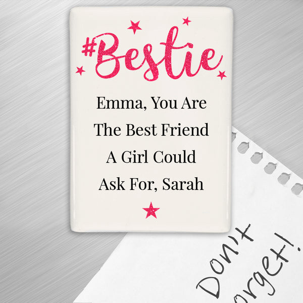 Personalised #Bestie Fridge Magnet from Sassy Bloom Gifts - alternative view