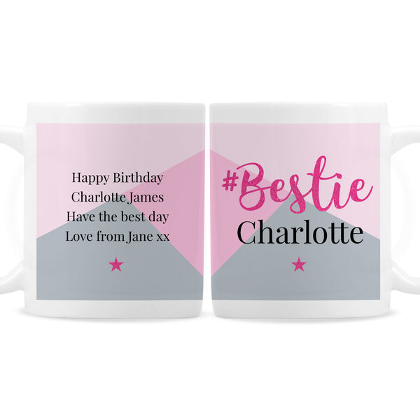 Personalised #Bestie Mug white background