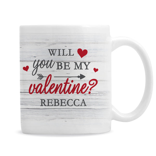 Personalised Be My Valentine Mug from Sassy Bloom Gifts - alternative view
