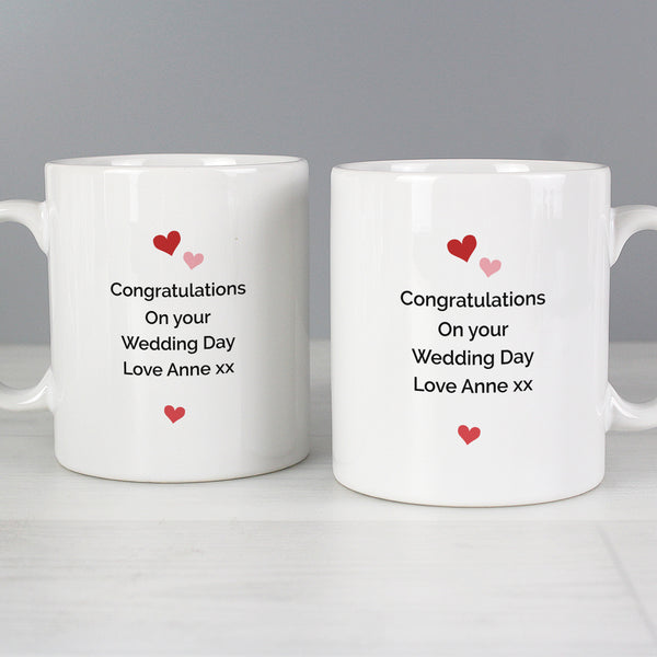 Personalised Mr and Mrs Valentine's Day Confetti Hearts Mug Set from Sassy Bloom Gifts - alternative view