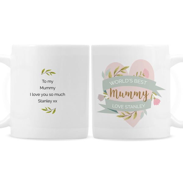 Personalised Floral Mother's Day Mug white background