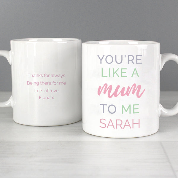 Personalised 'You're Like a Mum to Me' Mug from Sassy Bloom Gifts - alternative view
