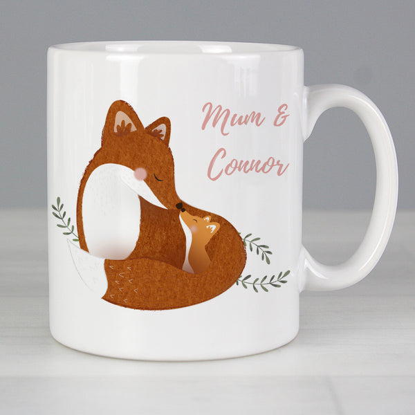 Personalised Mummy and Me Fox Mug lifestyle image