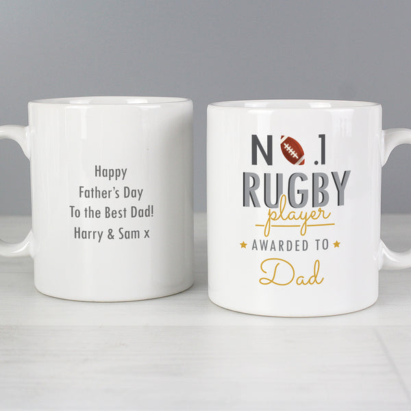 Personalised No.1 Rugby Player Mug from Sassy Bloom Gifts - alternative view