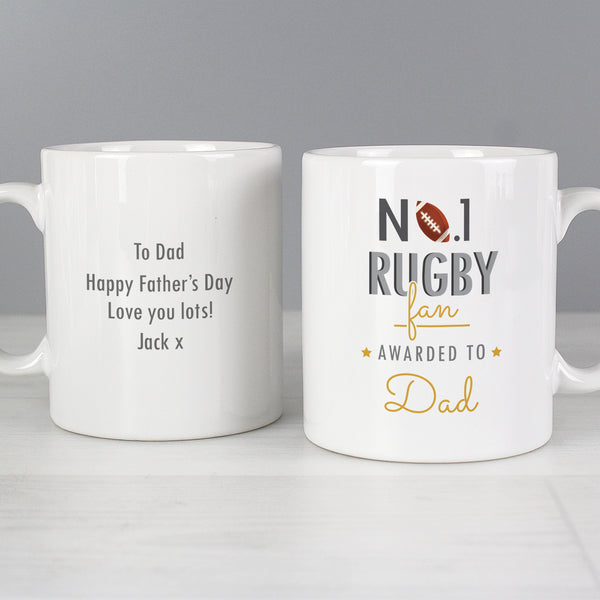 Personalised No.1 Rugby Fan Mug from Sassy Bloom Gifts - alternative view