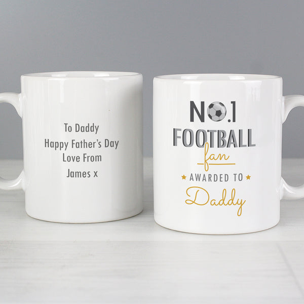 Personalised No.1 Football Fan Mug from Sassy Bloom Gifts - alternative view
