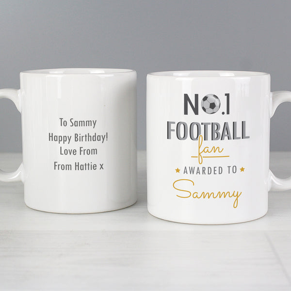 Personalised No.1 Football Fan Mug lifestyle image