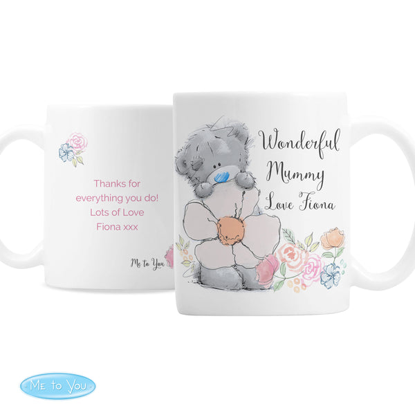 Personalised Me to You Floral Mug white background