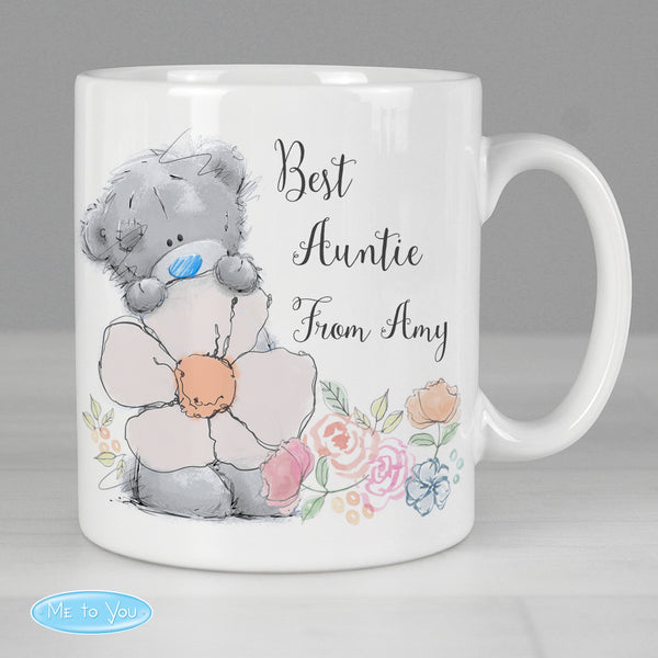 Personalised Me to You Floral Mug lifestyle image