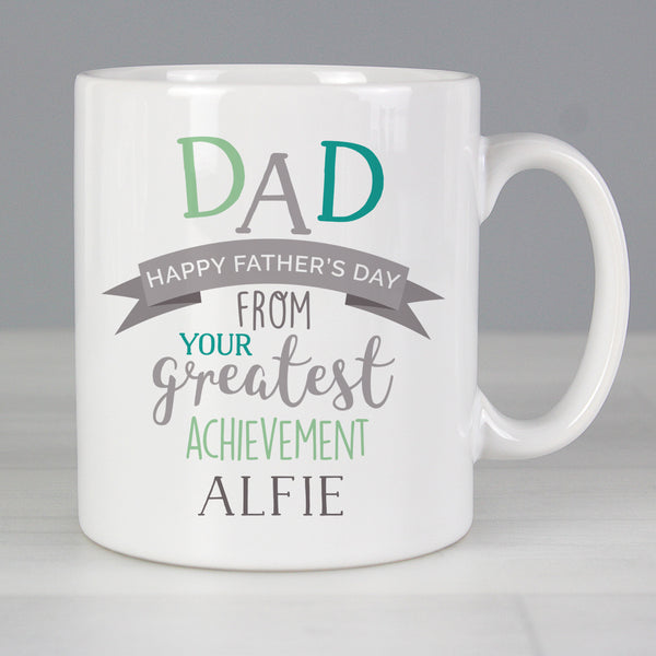 Personalised 'Dad's Greatest Achievement' Mug lifestyle image