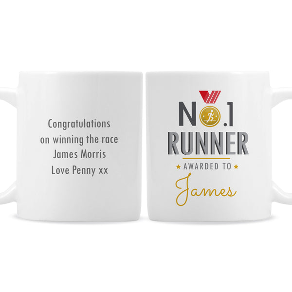 Personalised No.1 Runner Mug white background
