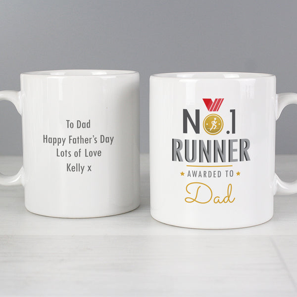Personalised No.1 Runner Mug lifestyle image