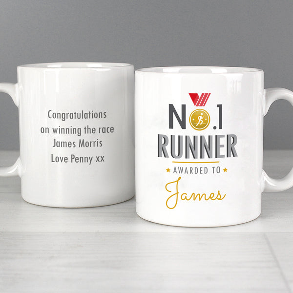 Personalised No.1 Runner Mug with personalised name