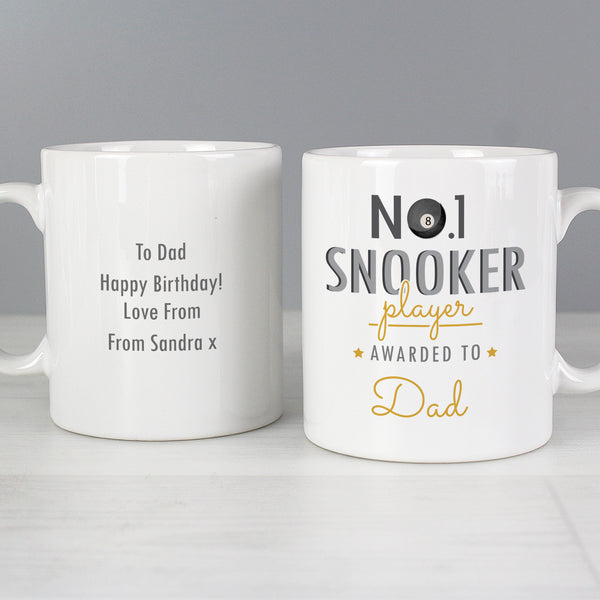 Personalised No.1 Snooker Fan Mug from Sassy Bloom Gifts - alternative view