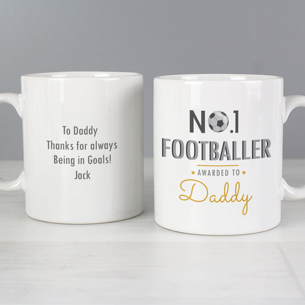Personalised No.1 Footballer Mug from Sassy Bloom Gifts - alternative view