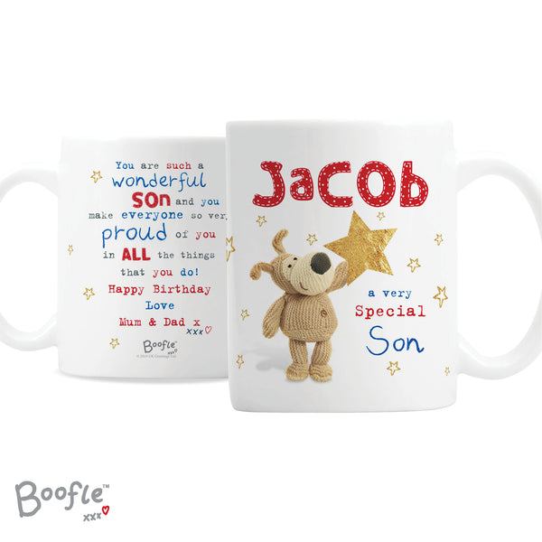 Personalised Boofle Very Special Star Mug white background