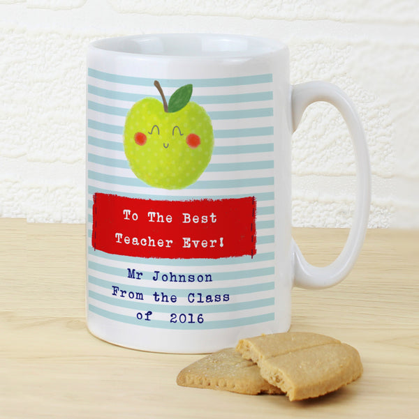 Personalised Apple for the Teacher Slim Mug from Sassy Bloom Gifts - alternative view