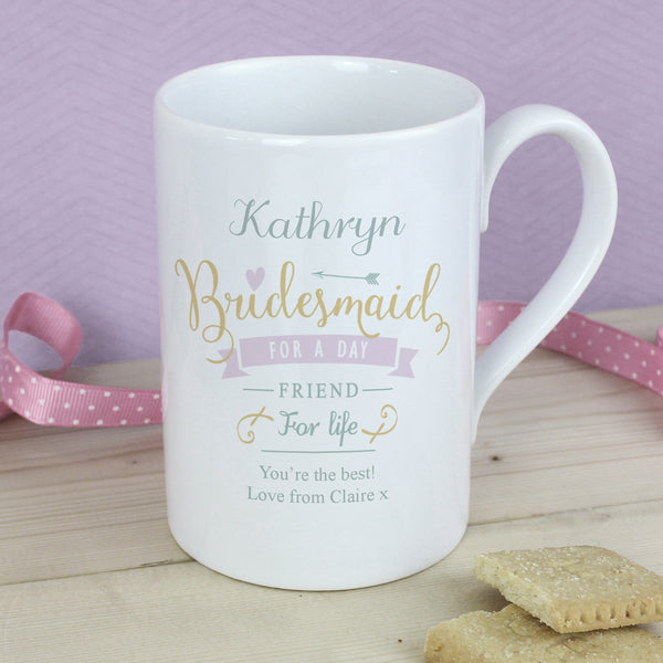 Personalised I Am Glad... Bridesmaid Slim Mug from Sassy Bloom Gifts - alternative view