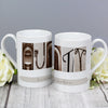 Personalised Affection Art Any Message Slim Mug