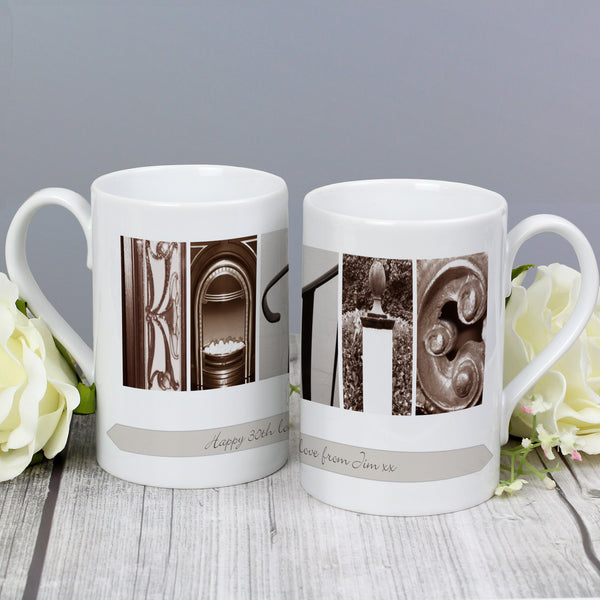 Personalised Affection Art Any Message Slim Mug from Sassy Bloom Gifts - alternative view