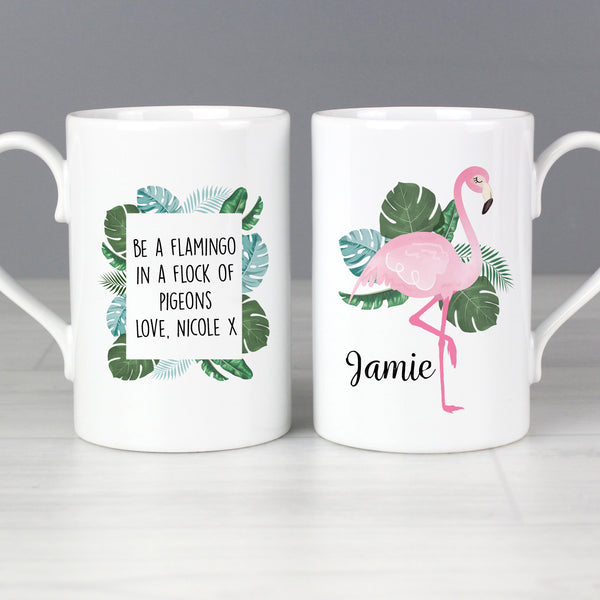 Personalised Flamingo Slim Mug from Sassy Bloom Gifts - alternative view