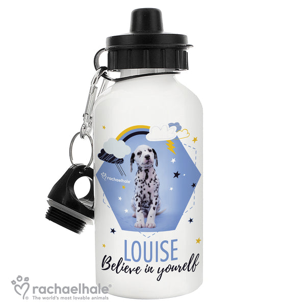 Personalised Rachael Hale Dalmatian Drinks Bottle white background
