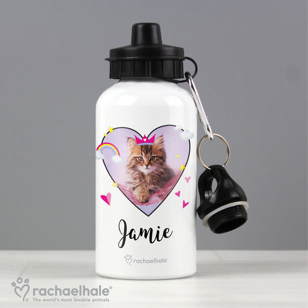 Personalised Rachael Hale Cute Cat Drinks Bottle from Sassy Bloom Gifts - alternative view