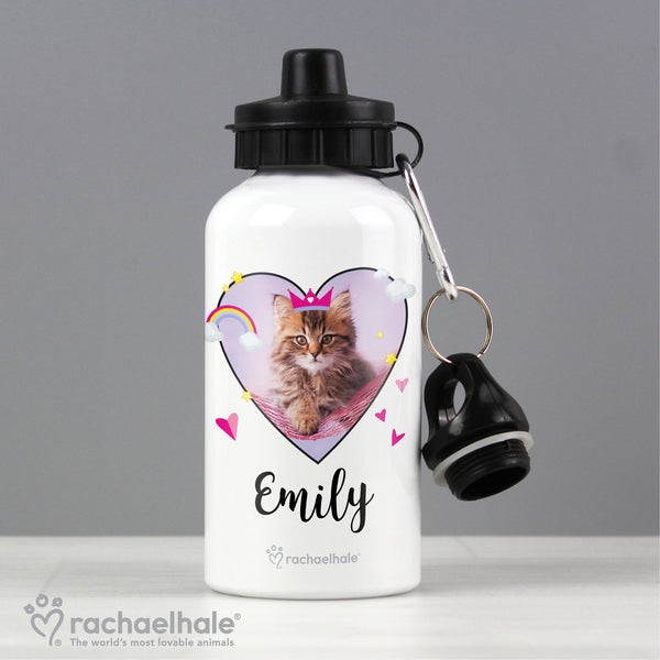 Personalised Rachael Hale Cute Cat Drinks Bottle with personalised name
