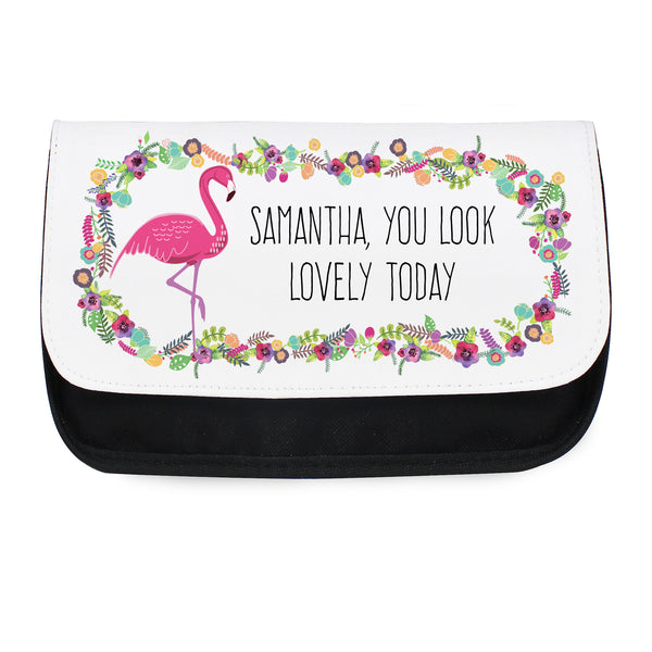 Personalised Flamingo Make Up Bag from Sassy Bloom Gifts - alternative view