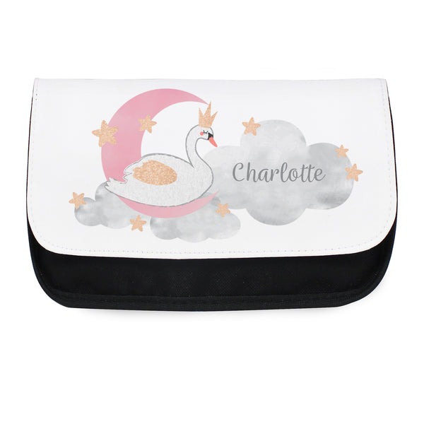 Personalised Swan Lake Make Up Bag white background
