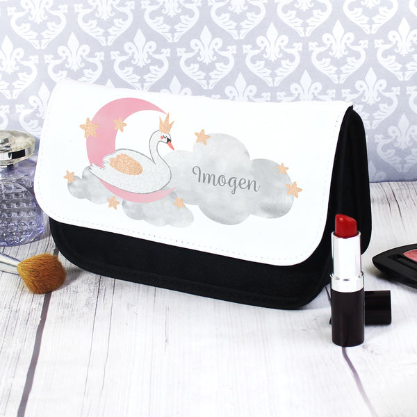 Personalised Swan Lake Make Up Bag with personalised name