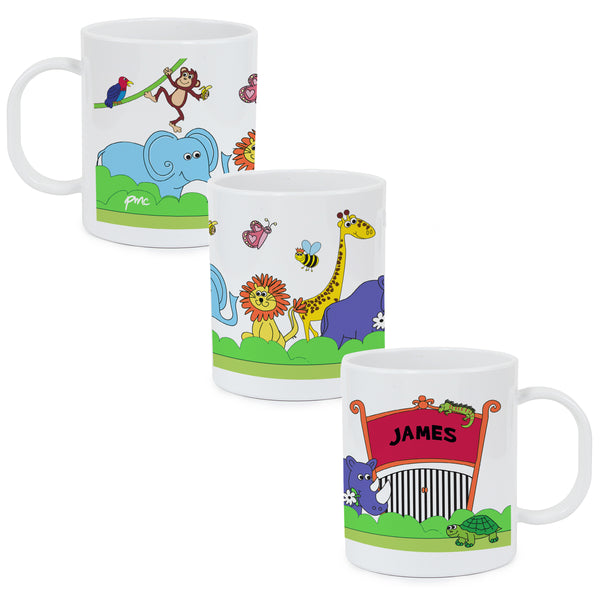 Personalised Zoo Plastic Mug from Sassy Bloom Gifts - alternative view