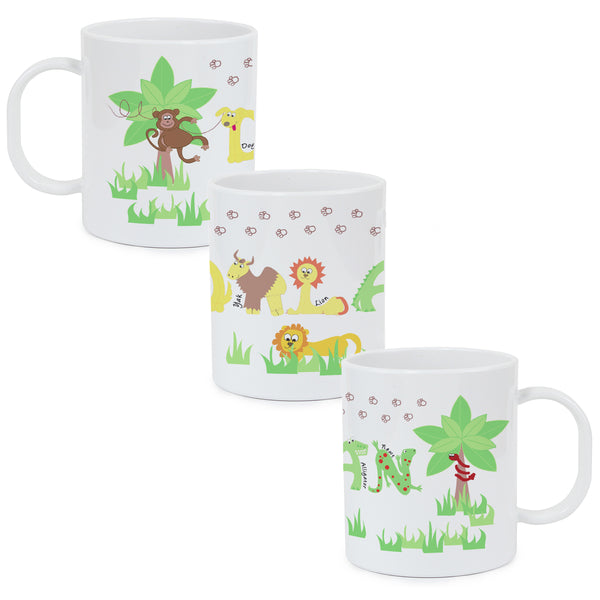 Personalised Animal Alphabet Plastic Mug from Sassy Bloom Gifts - alternative view