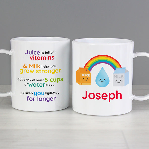 Personalised Healthy Eating Plastic Mug from Sassy Bloom Gifts - alternative view