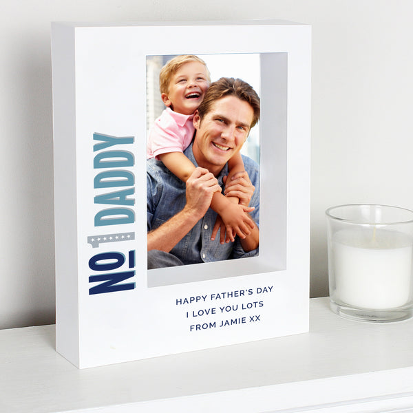 Personalised No.1 5x7 Box Photo Frame from Sassy Bloom Gifts - alternative view