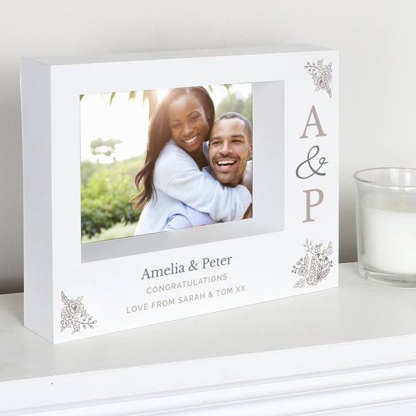 Personalised Couples Initials 7x5 Box Photo Frame from Sassy Bloom Gifts - alternative view