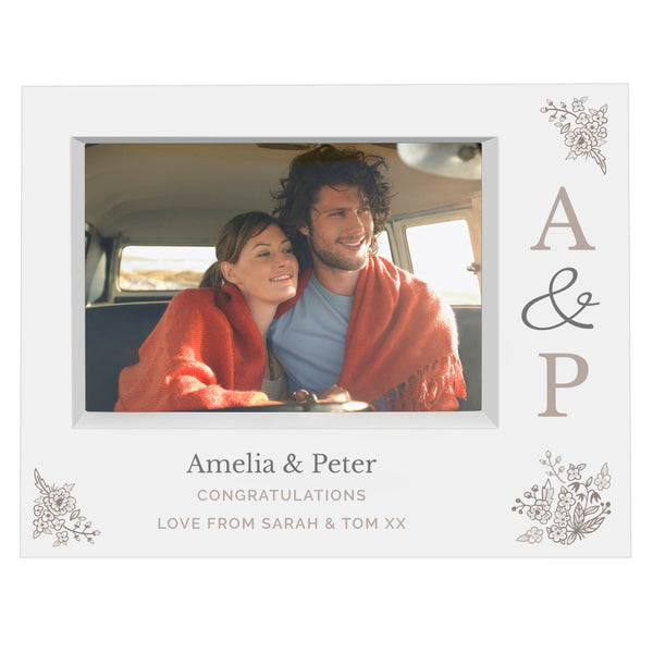 Personalised Couples Initials 7x5 Box Photo Frame lifestyle image