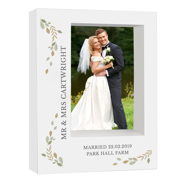 Personalised Fresh Botanical 5x7 Box Photo Frame white background