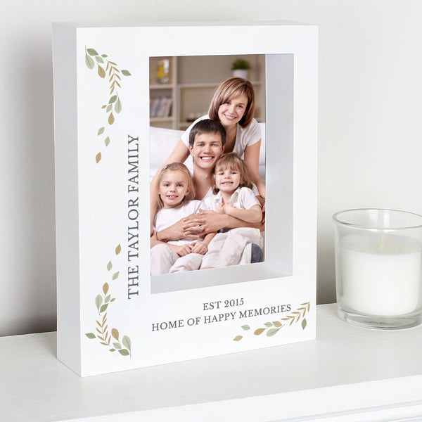 Personalised Fresh Botanical 5x7 Box Photo Frame lifestyle image